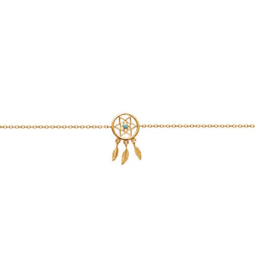 Bracelet Plaqué Or Attrape Rêve 1