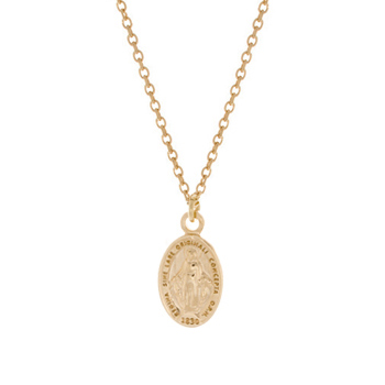 Collier Plaqué Or Marie 1