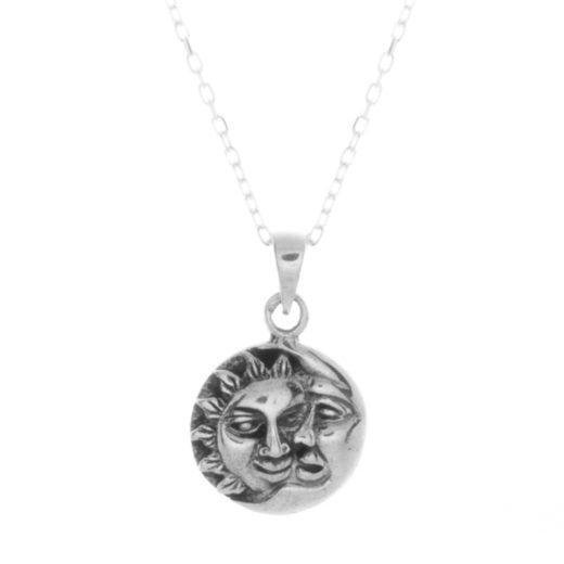 Collier Argent 925 Mini Soleil Lune 1