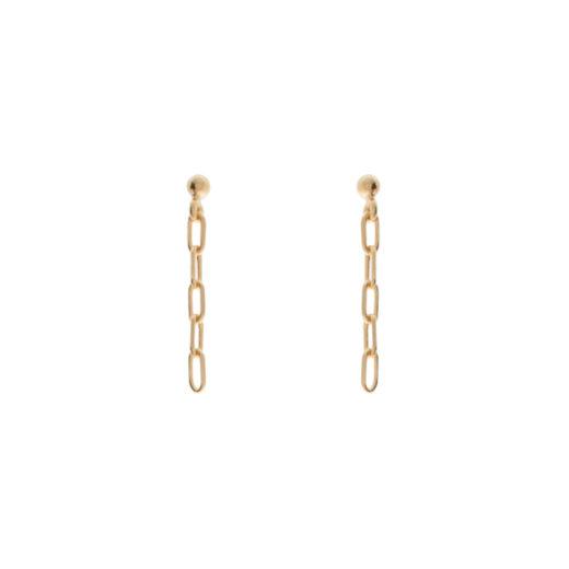 Boucles d'oreilles Plaqué Or Chaines Small 1