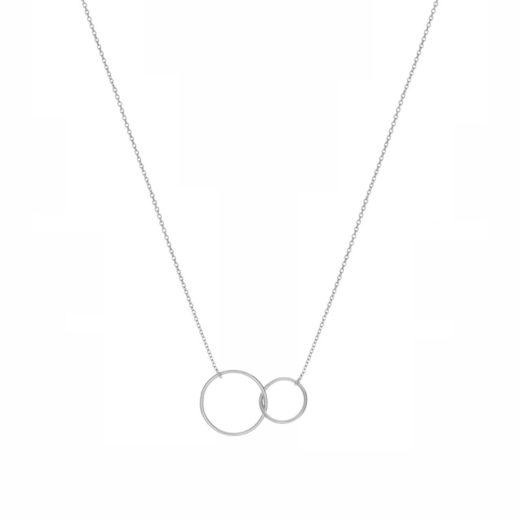 Collier Argent 925 Deux Cercles 1