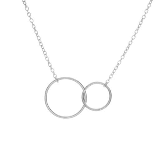 Collier Argent 925 Deux Cercles 2