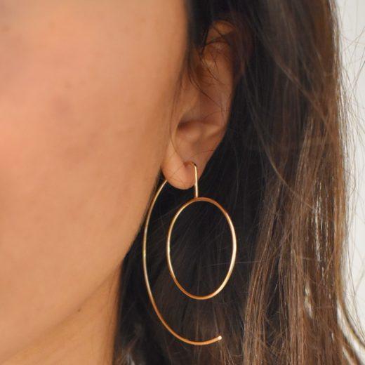 Boucles d'oreilles Plaqué Or C&O 2