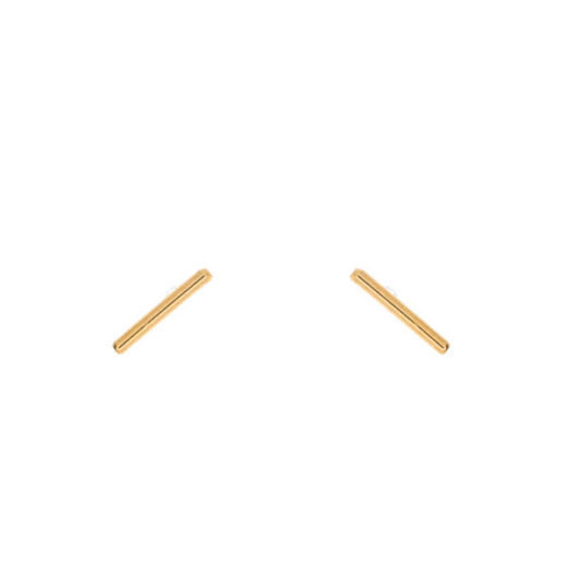 Puces Plaqué Or Barre 1.5cm 1