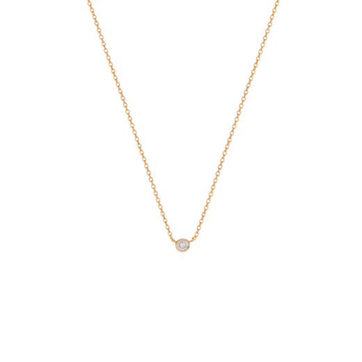 Collier Plaqué Or Di (Solitaire) 1