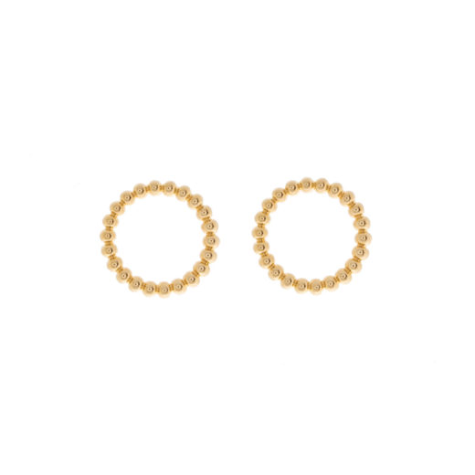 Puces Plaqué Or Cercles Boules 1