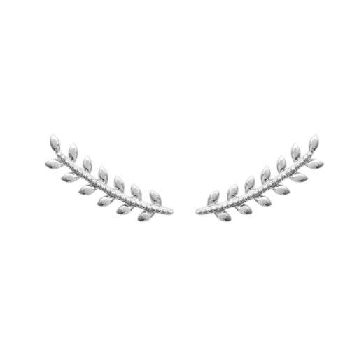 Boucles d'oreilles Montantes Argent 925 Epi sans Zircons 1
