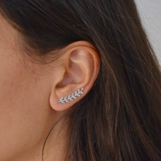 Boucles d'oreilles Montantes Argent 925 Epi sans Zircons 2