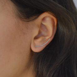 Boucles d'oreilles Montantes Argent 925 Lily 3
