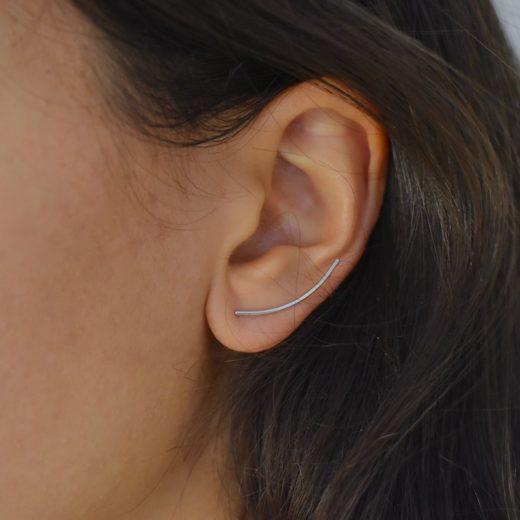 Boucles d'oreilles Montantes Argent 925 Lily 2