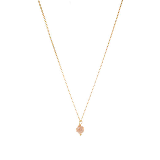 Collier Plaqué Or Rose Nacre 1