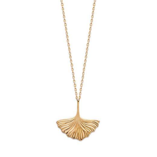 Collier Plaqué Or Ginkgo 1