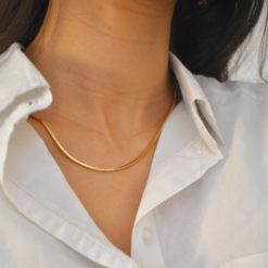 Collier Plaqué Or Chaine Mirroir Fine 3