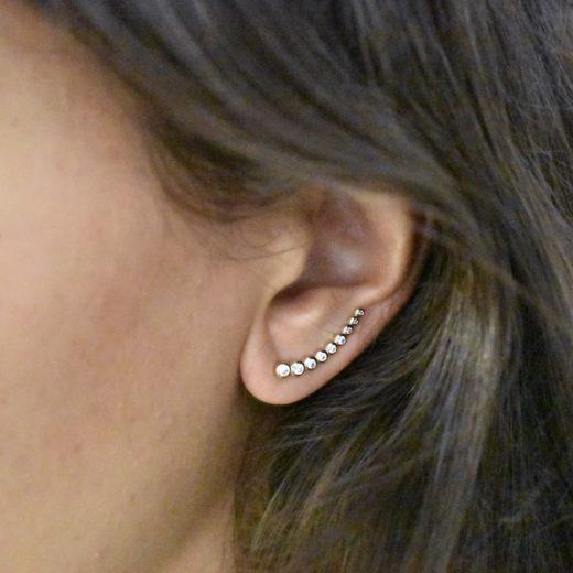 Boucles d'oreilles Montantes Plaqué Or Lift 2