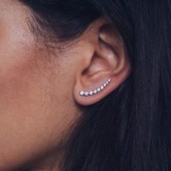 Boucles d'oreilles Montantes Argent 925 Lift 4