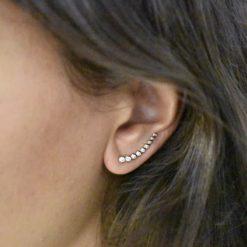 Boucles d'oreilles Montantes Plaqué Or Lift 3