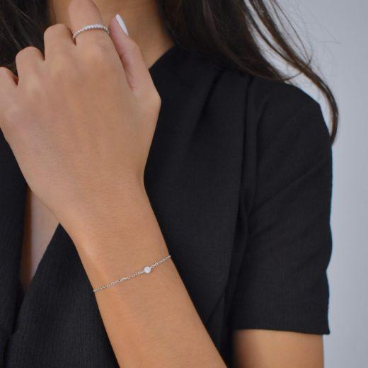 Bracelet Argent 925 Di (Solitaire) 3