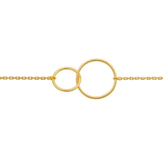Bracelet Plaqué Or Deux Cercles 1