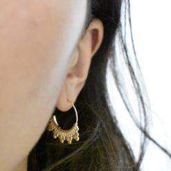 Boucles d'oreilles Plaqué Or Crochets Eth L 3