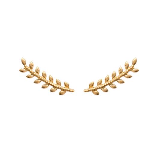 Boucles d'oreilles Montantes Plaqué Or Epi Sans Zircons 1