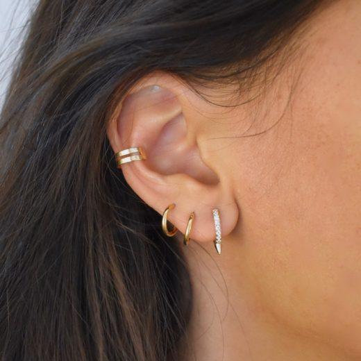 Bague d'oreille Plaqué Or Deux 3