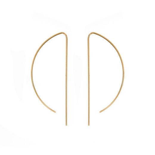 Boucles d'oreilles Plaqué Or Arc 1