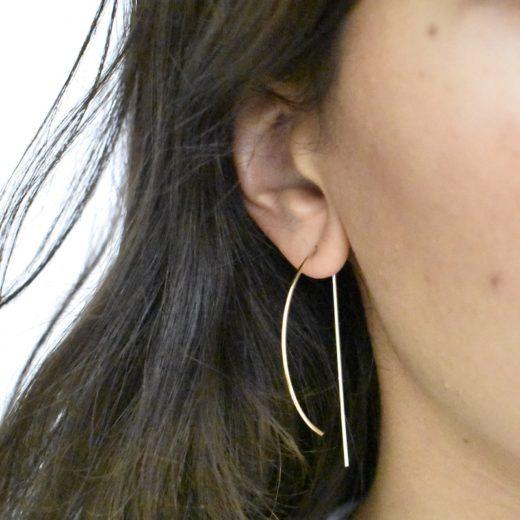Boucles d'oreilles Plaqué Or Arc 2