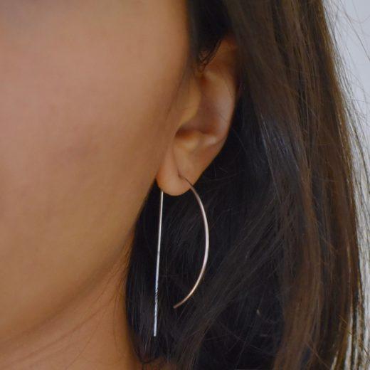 Boucles d'oreilles Argent 925 Arc 2
