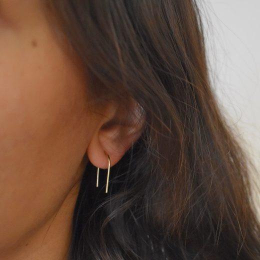 Boucles d'oreilles Plaqué Or U 2