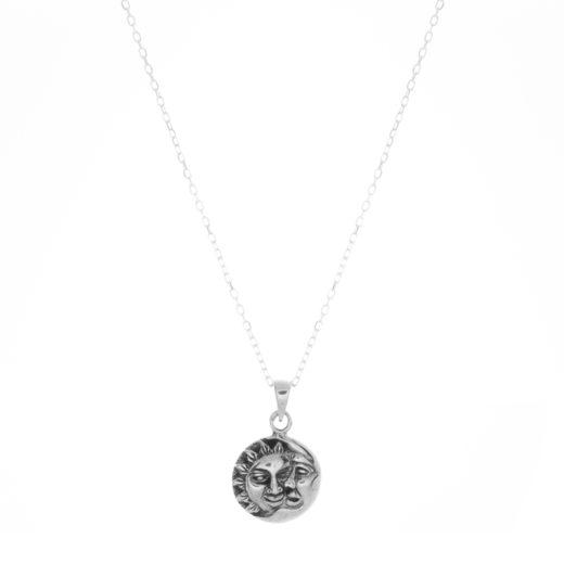Collier Argent 925 Mini Soleil Lune 2