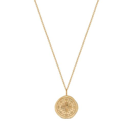 Collier Plaqué Or Médaille + 1