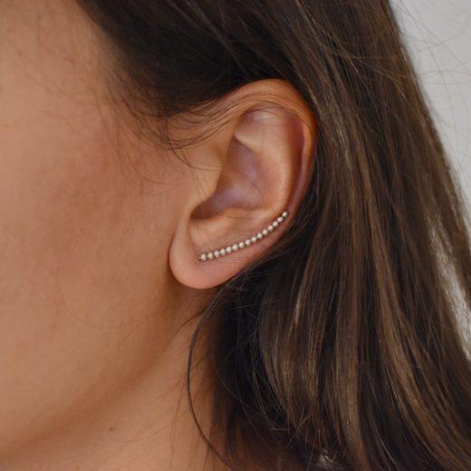 Boucles d'oreilles Montantes Argent 925 Billes 1