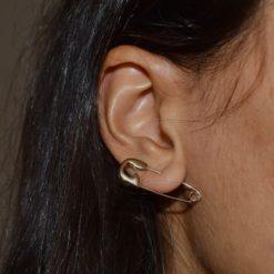 Boucle d'oreille Plaqué Or Epingle à Nourrice 3