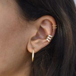 Bague d'oreille Plaqué Or Trois 5