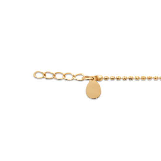Bracelet Plaqué Or Billes Strillées 4