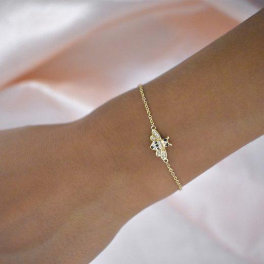 Bracelet Plaqué Or Abeille 2