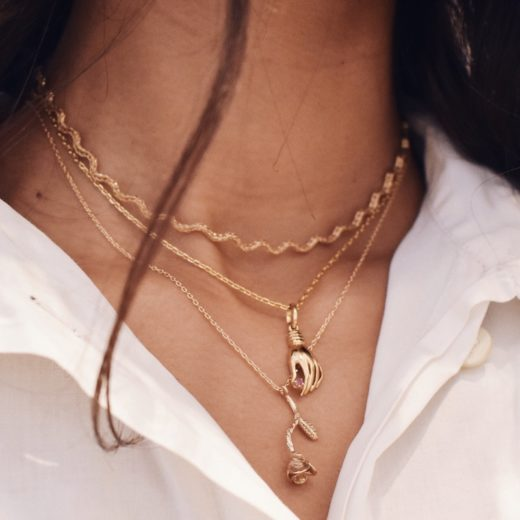 Collier Plaqué Or Rose 2