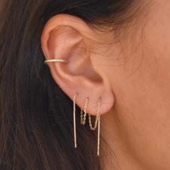 Bague d'oreille Martelée/Lisse 5
