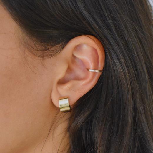 Bague d'oreille Martelée/Lisse 4