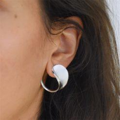 Boucles d'oreilles Argent 925 Spoon 4