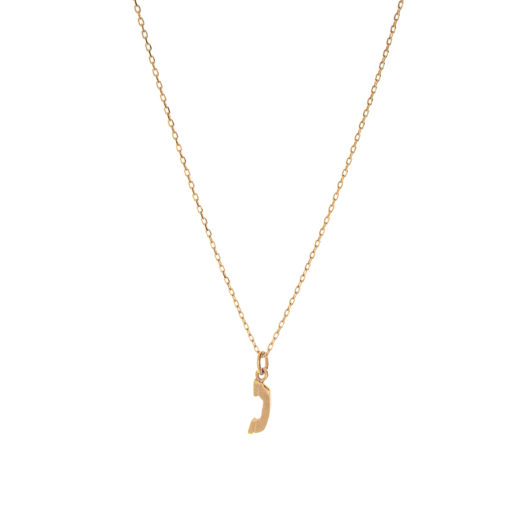 Collier Plaqué Or Call 3