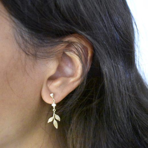 Boucles d'oreilles Plaqué Or Roma 2