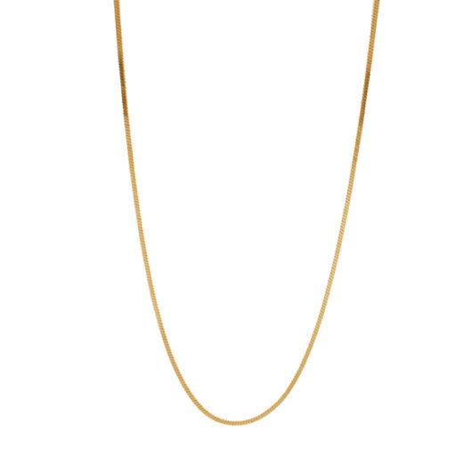 Collier Plaqué Or Chaine Mirroir Fine 1