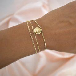 Bracelet Plaqué Or Triple Chaine 3