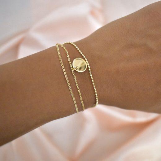 Bracelet Plaqué Or Triple Chaine 2