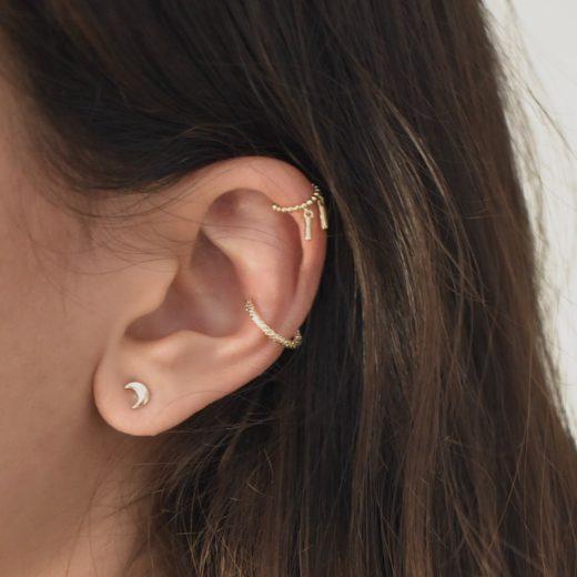 Bague d'oreille Plaqué Or As 2