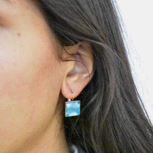 Boucles d'oreilles Tam Tam dans la Ville Doré L Multi 2
