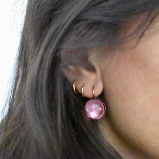 Boucles d'oreilles Tam Tam dans la Ville Cuivré Cercie Multi 7