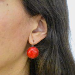 Boucles d'oreilles Tam Tam dans la Ville Cuivré Cercie Matte 4