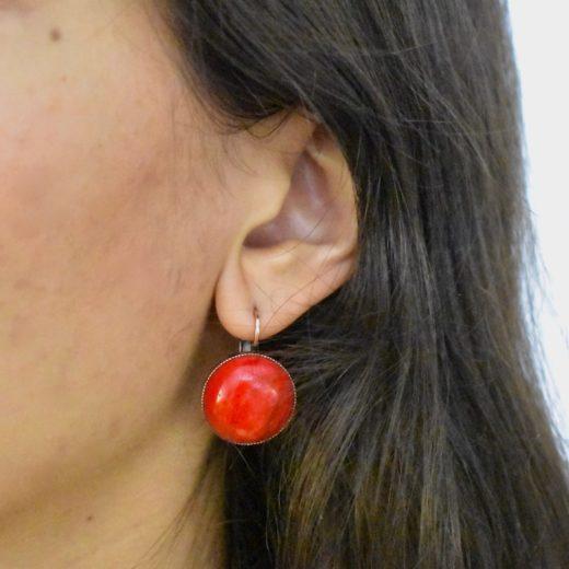 Boucles d'oreilles Tam Tam dans la Ville Cuivré Cercie Matte 2